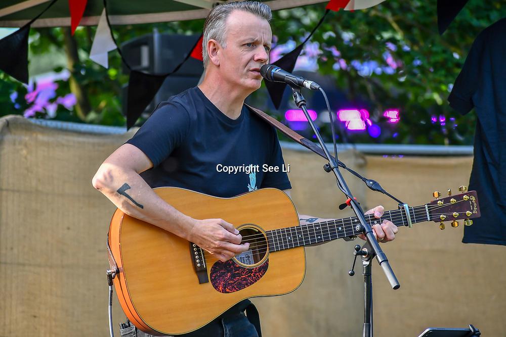 Jamies Freeman performs at the Food Village at Kew the Music 2019 on 14 July 2019, London, UK.