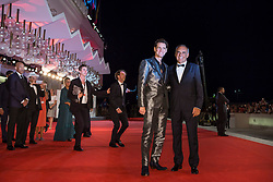 "Jim Carrey, Alberto Barbera (chairman of Mostra) arriving to the premiere of ""Jim & Andy: the Great Beyond - the Story of Jim Carrey & Andy Kaufman with a Very Special, Contractually Obligated Mention of Tony Clifton"" as part of the 74th Venice International Film Festival (Mostra) in Venice, Italy on September 5, 2017. Photo by Marco Piovanotto/ABACAPRESS.COM"