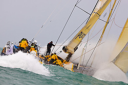 © Sander van der Borch.Alicante, 11 October 2008. Start of the Volvo Ocean Race.  Team Russia rounded the bottom mark in 8th  position, reaching of in heavy weather.