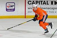 KELOWNA, BC - SEPTEMBER 23:  Joakim Nygard #10 of the Edmonton Oilers skates during practice at Prospera Place on September 23, 2019 in Kelowna, Canada. (Photo by Marissa Baecker/Shoot the Breeze)