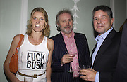 Arabella Pollen, Nick Allott and Peter Soros, The Vogue List, celebrated by Vogue and Motorola. 33 Portland Place. 3 November 2004. ONE TIME USE ONLY - DO NOT ARCHIVE  © Copyright Photograph by Dafydd Jones 66 Stockwell Park Rd. London SW9 0DA Tel 020 7733 0108 www.dafjones.com