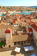 Rooftop view of  Trogir Croatia .<br /> <br /> Visit our MEDIEVAL PHOTO COLLECTIONS for more   photos  to download or buy as prints https://funkystock.photoshelter.com/gallery-collection/Medieval-Middle-Ages-Historic-Places-Arcaeological-Sites-Pictures-Images-of/C0000B5ZA54_WD0s