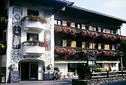 Vintage photograph, Hotel Hochfilzer,  Ellmau, Austrian Tyrol, Austria, 1988