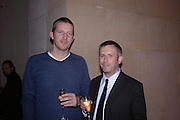 Michael Raedecker and Jake Miller. Turner Prize 2005. Tate Britain.   5 December  2005. ONE TIME USE ONLY - DO NOT ARCHIVE  © Copyright Photograph by Dafydd Jones 66 Stockwell Park Rd. London SW9 0DA Tel 020 7733 0108 www.dafjones.com