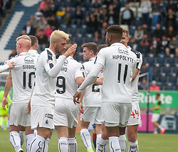 Falkirk's Myles Hippolyte celebrates after scoring their second goal. Falkirk 6 v 1 Elgin City, Irn-Bru Challenge Cup Third Round, played 3/9/2016 at The Falkirk Stadium .