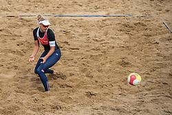 25-08-2018 NED: DELA Beach NK Volleyball, Scheveningen<br /> Marleen Ramond-van Iersel NED #2