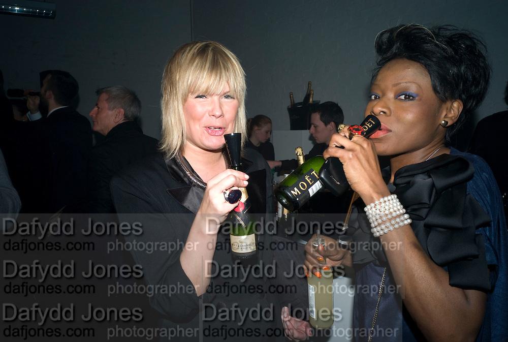 HELEN BOYLE; ARIETA MUJAY, The Elle Style Awards 2009, The Big Sky Studios, Caledonian Road. London. February 9 2009.  *** Local Caption *** -DO NOT ARCHIVE -Copyright Photograph by Dafydd Jones. 248 Clapham Rd. London SW9 0PZ. Tel 0207 820 0771. www.dafjones.com<br /> HELEN BOYLE; ARIETA MUJAY, The Elle Style Awards 2009, The Big Sky Studios, Caledonian Road. London. February 9 2009.