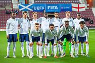 The England team before the U21 UEFA EUROPEAN CHAMPIONSHIPS match between Scotland and England at Tynecastle Stadium, Edinburgh, Scotland on 16 October 2018.