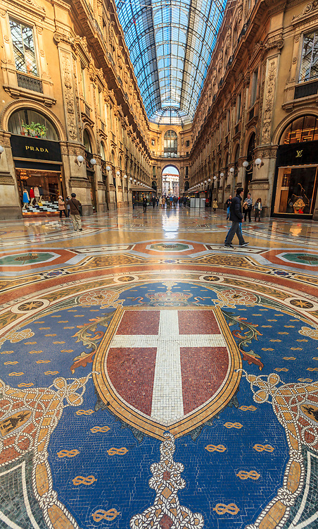 Galeria Vittorio Emanuele is one of the most beautiful covered galleries in Europe. The Galleria is often nicknamed il salotto di Milano (Milan's drawing room), due to its numerous shops and importance as a common Milanese meeting and dining place.[