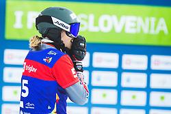 Selina Joerg (GER) during parallel slalom FIS Snowboard Alpine World Championships 2021 on March 2nd 2021 on Rogla, Slovenia. Photo by Grega Valancic / Sportida