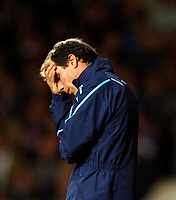Gianfranco Zola. ( West Ham United Manager ). not a happy man. West Ham United Vs Arsenal at Upton Park Barclays Premiership. 26/10/2008. Credit Colorsport / Kieran Galvin