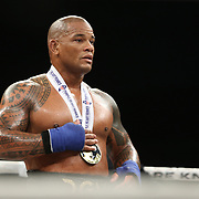 DAYTONA BEACH, FL - SEPTEMBER 11: Hector Lombard beats Kendall Grove during the Bare Knuckle Fighting Championships at the Ocean Center on September 11, 2020 in Daytona Beach, Florida. (Photo by Alex Menendez/Getty Images) *** Local Caption *** Hector Lombard; Kendall Grove