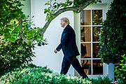 President Donald Trump leaves the Oval Office as he makes his way to depart on Marine One from the South Lawn of the White House in Washington, District of Columbia, U.S., on Friday, June 9, 2017. Trump is heading to New Jersey for the weekend.