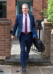 © Licensed to London News Pictures. 10/05/2021. London, UK. Labour Party Leader Sir KEIR STARMER is seen is seen leaving his London home. Starmer is expected to reshuffle his Shadow Cabinet after a series of disappointing results in elections last week. Photo credit: Ben Cawthra/LNP
