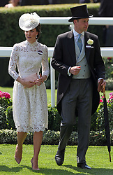 Kate, Duchess of Cambridge, and Prince William, during day one of Royal Ascot at Ascot Racecourse.