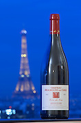 mourgues du gres with eiffel tower in back rhone france