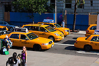 taxis outside The Metropolitan Museum of Art. New York City in October 2008
