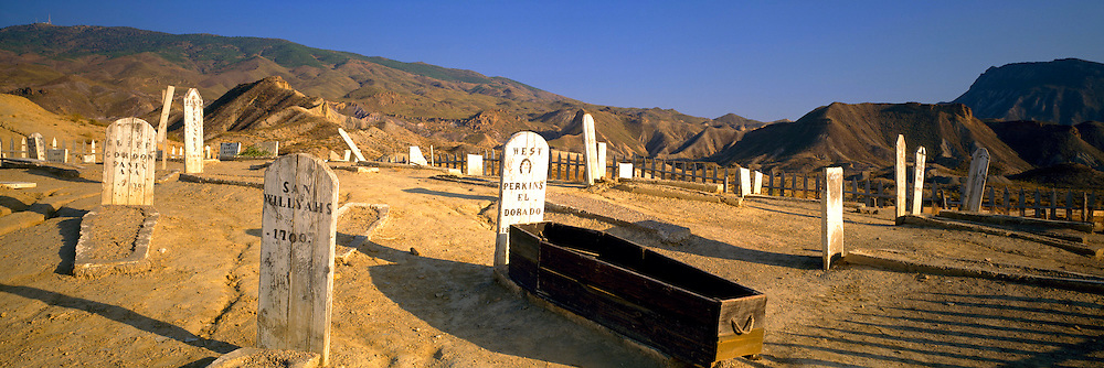 SPAIN, ANDALUSIA Mini Hollywood movie set for filming westerns; Boot Hill; near Tabernas, north of Almeria
