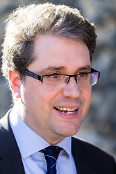 Elliot Higgins, Founder of investigative website Bellingcat which has traced the identities of Russian GRU officers associated with the Novichok poisoning in Salisbury of Sergei Skripal and his daughter Yulia as well as two others, Charlie Rowley and Dawn Sturgiss, who died after coming into contact with the deadly nerve agent, at a press conference on College Green opposite the Houses of Parliament. London, October 09 2018.