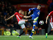 Jesse Lingard of Manchester United in action with Kevin Mirallas of Everton during the English Premier League match at Old Trafford Stadium, Manchester. Picture date: April 4th 2017. Pic credit should read: Simon Bellis/Sportimage