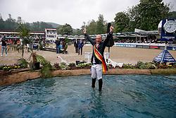 BALVE - Longines Balve Optimum 2021<br /> <br /> WEISHAUPT Maximilian (GER), MEYER Tobias (GER), STUEHLMEYER Patrick (GER)<br /> Sektdusche<br /> Meisterehrung Deutsche Meisterschaft Springreiten<br /> LONGINES OPTIMUM PREIS<br /> Deutsche Meisterschaft Finalwertung Springreiten<br /> Springprüfung Kl. S**** mit 2 Umläufen<br /> <br /> Balve, Reitstadion Schloss Wocklum<br /> 05. June 2021<br /> © www.sportfotos-lafrentz.de/Stefan Lafrentz