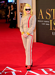 Pam Hogg attending the UK Premiere of A Star is Born held at the Vue West End, Leicester Square, London.