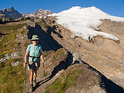 The Railroad Grade Trail follows a lateral moraine of the Easton Glacier which flows from the south side of Mount Baker (10,781 feet). Mount Baker National Recreation Area, Washington, USA. For licensing options, please inquire.