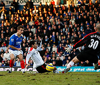 GARY O'NEIL scores Portsmouth's only goal<br /> <br /> PORTSMOUTH V FULHAM PREMIERSHIP 31.12.05 <br /> <br /> PHOTO SEAN RYAN FOTOSPORTS INTERNATIONAL