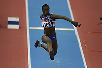 Photo: Rich Eaton.<br /> <br /> EAA European Athletics Indoor Championships, Birmingham 2007. 04/03/2007. Teresa Nzola Meso Ba of France competes in the womens triple jump