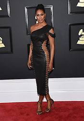 February 12, 2017 - Los Angeles, California, U.S. - Laverne Cox arrives for the 2017 Grammy Awards at Staples Center. (Credit Image: © Lisa O'Connor via ZUMA Wire)