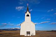 Historic Church located near Canyon Ferry Lake, Montana.