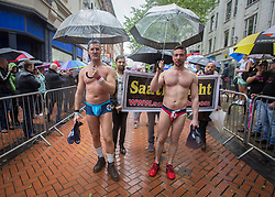 ***LNP HIGHLIGHTS OF THE WEEK 30/05/14***<br /> <br /> © Licensed to London News Pictures. 24/05/2014. Birmingham, UK.  Despite the wet weather the annual Birmingham Pride festival got underway this weekend.  The parade is one of the largest LGBT two day festivals in the UK. Photo credit : Alison Baskerville/LNP