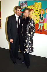 MR TIM & LADY HELEN TAYLOR they are expecting a baby in January at a private view of the 2004 Frieze Art Fair - a major exhibition attended by most of the leading contempoary art dealers held in Regents Park, London on 14th October 2004.NON EXCLUSIVE - WORLD RIGHTS