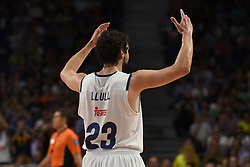 May 31, 2017 - Madrid, Madrid, Spain - Sergio Llul, #23 of Real Madrid gestures during the first game of the semifinals of basketball Endesa league between Real Madrid and Unicaja de Málaga. (Credit Image: © Jorge Sanz/Pacific Press via ZUMA Wire)