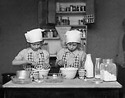 Christmas Cooking, England, 1932