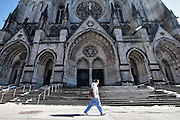 Scenes from inside The Cathedral Church of Saint John the Divine the largest church in the United States and some would argue the largest in the world.  Constructed in 1892 located on Amsterdam Ave in Harlem.  Harlem, a neighborhood of New York City in Manhattan, began as a Dutch village in 1658 and was later annexed to New York City in 1873.  At the beginning of the 20th century African-American's began arriving from the southern American states looking for work in the more industrious north.  With their migration, the African-American community brought with them a renaissance in the arts to Harlem that is still evident today.  After World War II Harlem began experiencing a significant rise in crime and poverty due to the Great Depression that lasted until the 21st century.  A new pride in the community has brought a renewed revival to Harlem, and crime rates have dropped to record lows giving the New York City neighborhood a new lease on life.