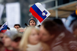 Fans of Slovenia during Flying Hill Individual at 2nd day of FIS Ski Jumping World Cup Finals Planica 2011, on March 18, 2011, Planica, Slovenia. (Photo by Vid Ponikvar / Sportida)