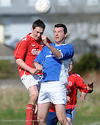 Tom Malley Mannions and Dave Molloy Medtronic  in Westpark in Galway Photo:Andrew Downes