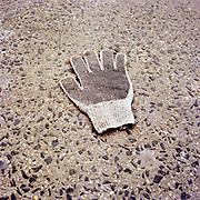 White Work Glove. Broadway at 104th Street. 10-March, 2003 9 AM
