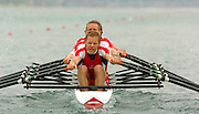 FISA World Cup Rowing Munich Germany..27/05/2004..Thursday morning opening heats...DEN M4X.Stroke Mogens Jessen, Bjarne Kallesoee, Niels Gommesen and Rasmus Hjortshoej. Equipment [Mandatory Credit: Peter Spurrier: Intersport Images].