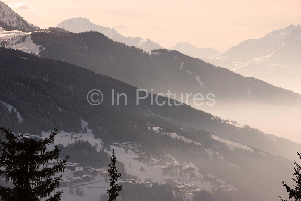 Les Arcs ski resort in the French Tarentaise Valley