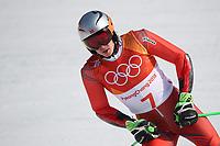 PYEONGCHANG,SOUTH KOREA,18.FEB.18 - OLYMPICS, ALPINE SKIING - Olympic Winter Games PyeongChang 2018, giant slalom, men. Image shows Henrik Kristoffersen (NOR).<br /> <br /> Norway only