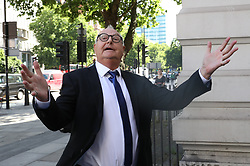 June 26, 2017 - London, London, United Kingdom - Image lLicensed to i-Images Picture Agency. 26/06/2017. London, United Kingdom. Former DJ Jonathan King arriving at Westminster Magistrates  Court in London.  Picture by Stephen Lock / i-Images (Credit Image: © Stephen Lock/i-Images via ZUMA Press)
