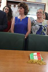 June 28, 2017 - Arzano, Campania/Napoli, Italy - Fiorella Esposito is officially the Mayor of the City of Arzano. After reading the results of the ballot poll, proclaimed Fiorella Esposito mayor elected in the latest administrative elections. (Credit Image: © Salvatore Esposito/Pacific Press via ZUMA Wire)