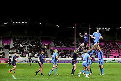 October 21, 2017 - Paris, France, France - Hugh Pyle (Stade Fr) vs Will Lloyd (London Irish) duel en touche (Credit Image: © Panoramic via ZUMA Press)