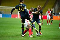 Football - 2016 / 2017 UEFA Champions League - Group E: Tottenham Hotspur vs. AS Monaco<br /> <br /> Djibril Sidibe of Monaco tackled by Dele Alli of Tottenham Hotspurs at the Stade Louis II in Monaco<br /> <br /> colorsport/winston bynorth