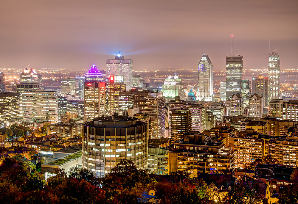 Montreal´s skyline from park Mont Royal.