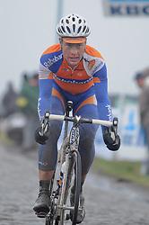 "26.02.2011, Flandern, BEL, Omloop, Radsport Frühjahrsklassikers, im Bild  sebastian langeveld   OF THE TEAM rabobank IN ACTION DURING THE 66e FLANDERS CLASSICS CYLING RACE "" OMLOOP HET NIEUWSBLAD "" in the lange munt. Saterday Feb. 26,  2011. ( EXPA Pictures © 2011, PhotoCredit: EXPA/ nph/   / Laurent Dubrule )       ****** out of GER / SWE / CRO  / BEL ******"