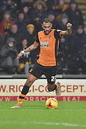 Hull City midfielder Ahmed Elmohamady  during the Sky Bet Championship match between Hull City and Bolton Wanderers at the KC Stadium, Kingston upon Hull, England on 12 December 2015. Photo by Ian Lyall.