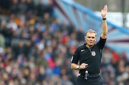Referee Graham Scott in action. The Emirates FA cup 5th round match, Burnley v Lincoln City at Turf Moor in Burnley, Lancs on Saturday 18th February 2017.<br /> pic by Chris Stading, Andrew Orchard Sports Photography.